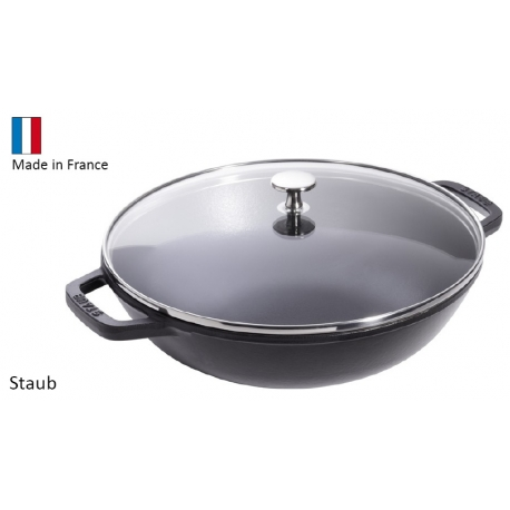 wok en fonte staub 30 cm. Black Bedroom Furniture Sets. Home Design Ideas
