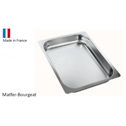 Plat gastro inox 2/3 multi-usages