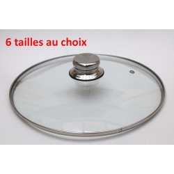 Couvercle verre - Bouton inox