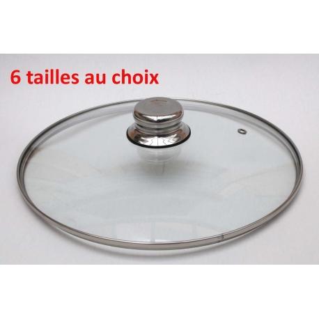 Couvercle verre - Bouton inox