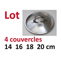 Lot 4 couvercles De Buyer 14 16 18 20 cm