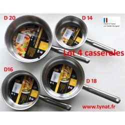 Lot 4 casseroles Bourgeat