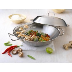"Wok Fissler couvercle  inox ""profi Collection"""