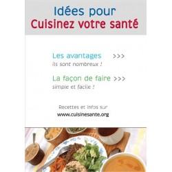 Flyer : idées pour cuisiner votre santé