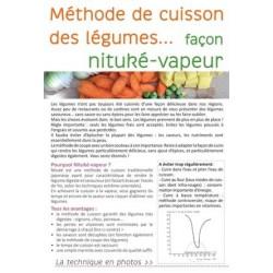 Flyer méthode de cuisson des légumes
