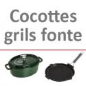 Cocottes et grils fonte